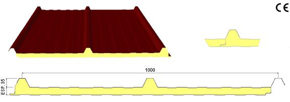 Panel cubierta 3 ondas