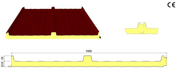panel cubierta fijación oculta