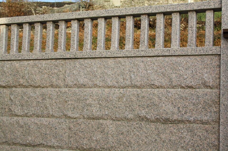 Bloque de cierre o muro de cierre de granito
